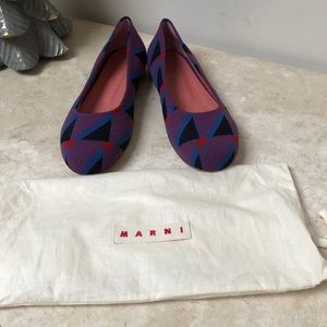 Marni vibrant patterned flats in size 41 NWOB